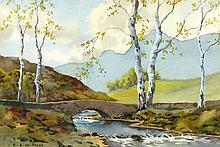 Edward Prior Pair of Bridge & River Landscapes