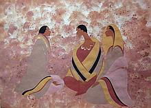 Maxine Noel Three Seated Figures