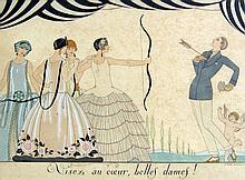 Georges Barbier 4 prints from Le Bonheur du Jour, ou Les Graces a la Mode
