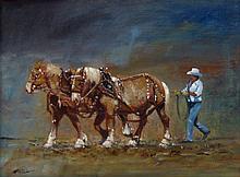 William McKibbin Prairie Work Horses