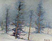 Fernand Labelle Snowy Woodland Landscape