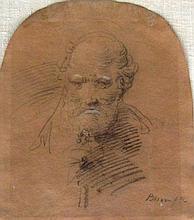 Giuseppe Bison Head of a Man