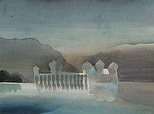 Toni Onley Lake Palace, Jaipur, India, December 24, 1982 (from the Walls of India series)