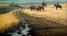 Harold Lyon Herding Cattle