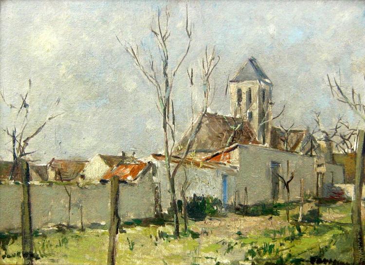 Paul Pouchol Vetheuil au Printemps