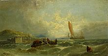 T.B. Hardy Fish Boat in Choppy Sea