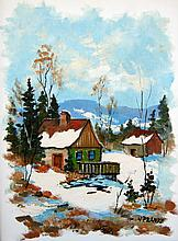 Walter Pranke Cabin in Winter; Farmhouse in Fall