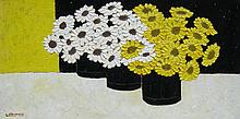 David J. Edwards Yellow and White Gerberas