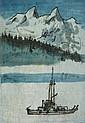 David Lam Fishing Boat before Mountains; Fishing Boat