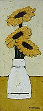 David J. Edwards Trio of Sunflowers