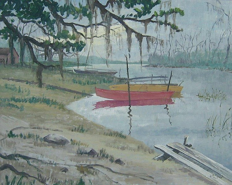 Picard Canadian oil bayou scene