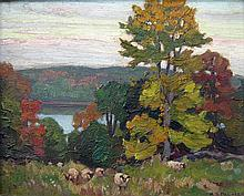 Herbert Palmer Evening on a Mountain Lake, Haliburton