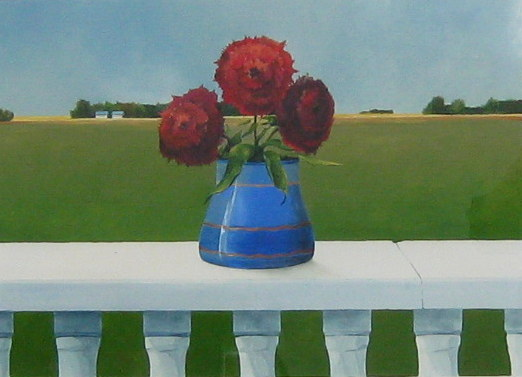 Mark Fletcher Still Life with Prairie Landscape