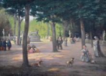 Attr. to to Guy Pene du Bois - Luxembourg Gardens