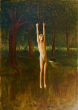 Guy Pene du Bois - Boy Swinging Over Brook