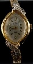 VINTAGE HELBROS WOMEN'S 12 KT G.F. WIND UP WATCH IN WORKING CONDITION - CLASSY LOOKING VINTAGE WATCH