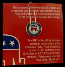 COLLECTIBLE REPUBLICAN NATIONAL COMMITTEE PIN FROM 2013