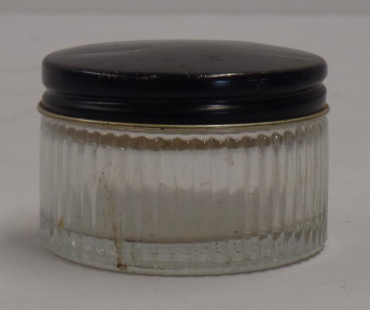 Vintage Glida Powder Jar With Screw Top Metal Lid