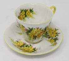 Vintage Royal Albert Bone Chine Tea Cup And Saucer - Blossom Time Series Laburnum
