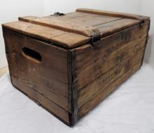 Antique Pabst Brewing Beer CO Crate From Milwaukee WI With Locking Latch