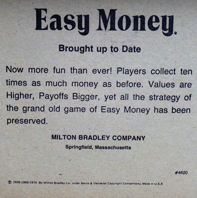Vintage Milton Bradley Co Easy Money Board Game A Game Of: borrowing money to build a house