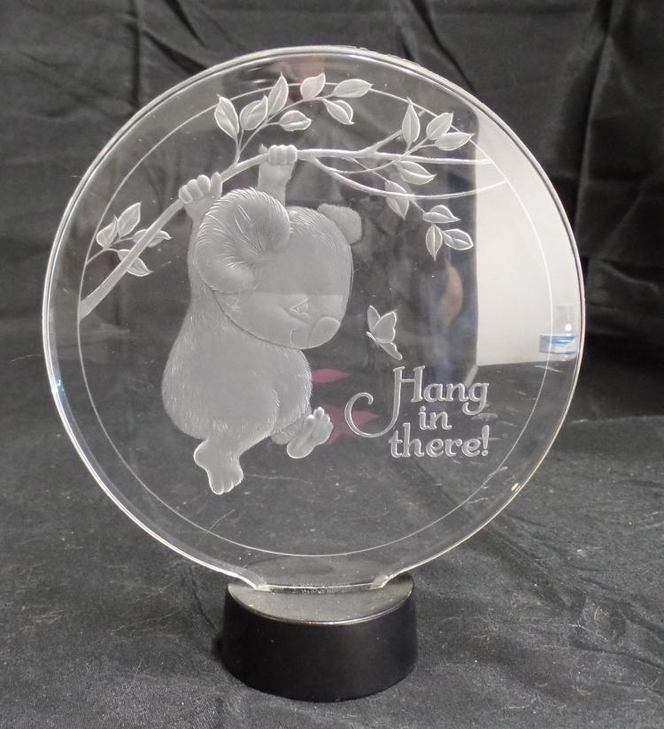 vintage hang in there clear plastic koala picture plaque o. Black Bedroom Furniture Sets. Home Design Ideas