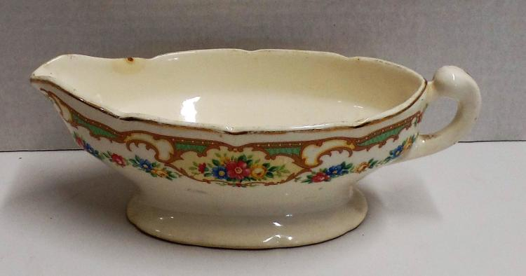 Antique fine china gravy boat with floral design stamped ma Today s home furniture design grand junction co