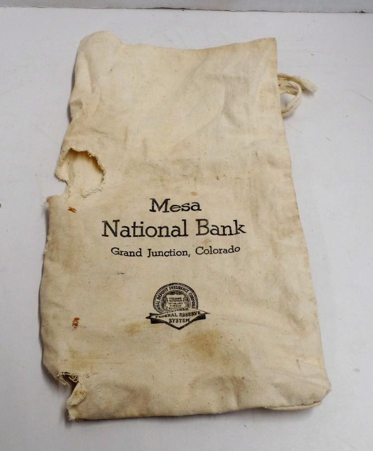 Vintage Mesa National Bank Bank Bag From Grand Junction, Co