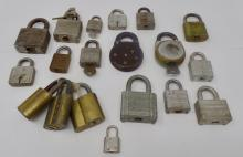 Vintage Lot of Misc. Locks - Includes Some Keys - See Photos For Details - Weighs 5lbs