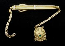 Vintage 12K Gold Fill Tie Clip and Chain - Weighs 9.5g