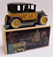 Cast Iron Reproduction of 1920s Yellow Cab Co. Taxi - Made by Authentic Models - Measures 9
