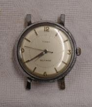 Vintage Timex Self-Winding Watch Face - In Working Condition - Water and Shock Resistent - Measures 1 3/4