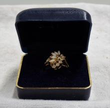 Vintage Women's Ring - Costume Jewelry Made by Ronte of Beverly Hills - In Original Box