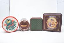 Vintage Lot f 4 Decorative Tins - Williams Sonoma Classic