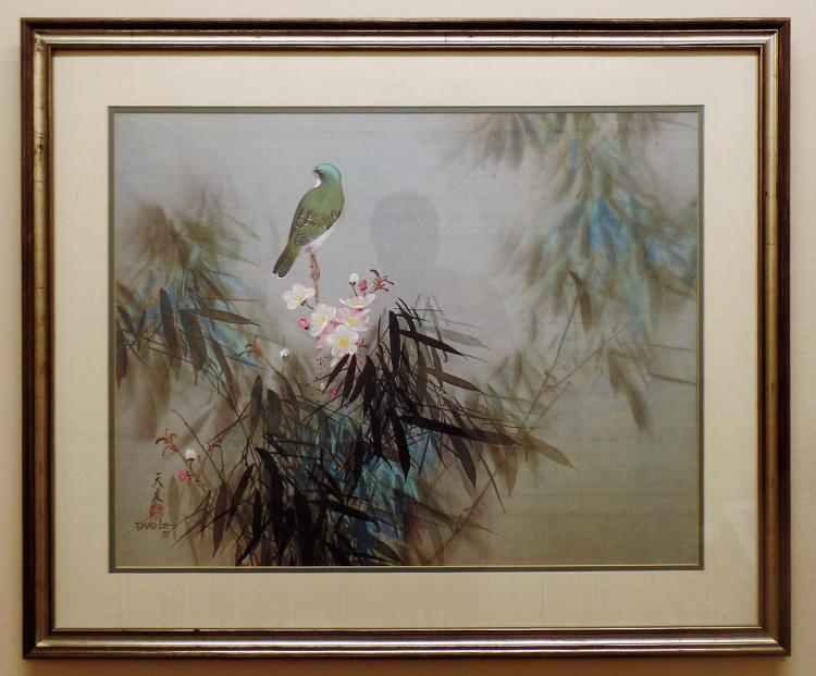 Chinese American Artist David Lee Signed Litho Quot Spring Song Quot