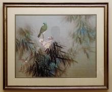 Chinese-American Artist David Lee Signed Litho