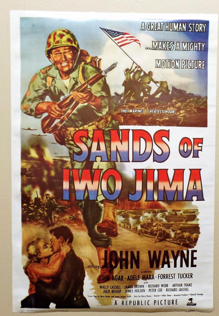 vintage john wayne quot sands of iwo jimaquot movie poster from 19