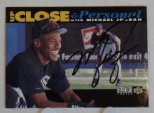 Autographed Michael Jordan Upper Deck Collector's Choice Baseball Card from 1994 - Signed and Authenticated by TNT Sportscards in Amarillo, TX. Ships in Rigid Sleeve and Mailer with Insurance.