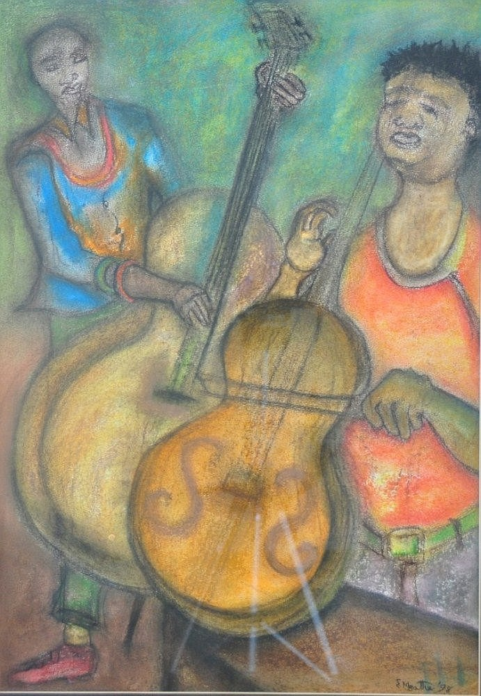 MBATHA, ERIC - SOUTH AFRICAN (1948-) Pastel -