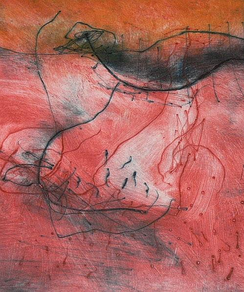 SCHIMMEL, FRED - SOUTH AFRICAN (1928-) Monotype -