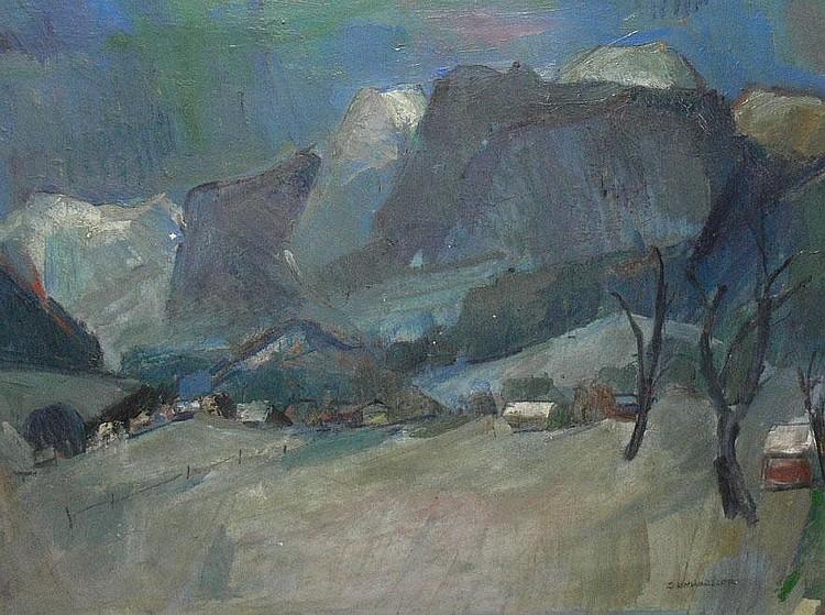 SCHWARZLER, KARL - GERMAN (1907 - 1990) Oil on