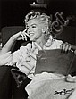 Marilyn Monroe mit Buch / with book, George Barris, Click for value