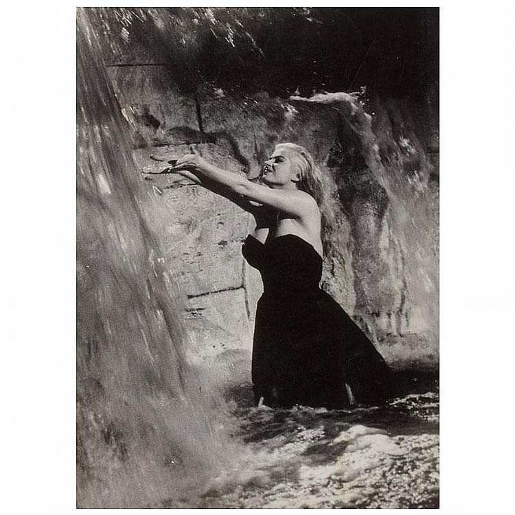 Anita Ekberg in Fontana di Trevi, Film still from La Dolce Vita by Tazio Secchiaroli (1925-1998)