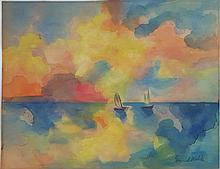 Emil Nolde watercolor on paper signed painting
