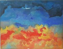 Emil Nolde gouache on paper signed painting