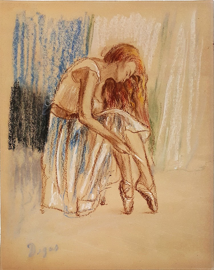 Edgar Degas Mixed Media On Paper Signed Painting