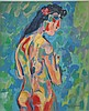 Ernst Ludwig Kirchner gouache on paper signed painting, Ernst Ludwig Kirchner, $1,000