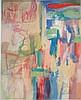 Roy LICHTENSTEIN mixed media on paper signed painting, Roy Lichtenstein, $900