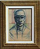 Alberto GIACOMETTI mixed media on paper signed painting, Alberto Giacometti, $1,000