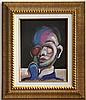 Francis BACON gouache on paper signed painting, Francis Bacon, $1,000
